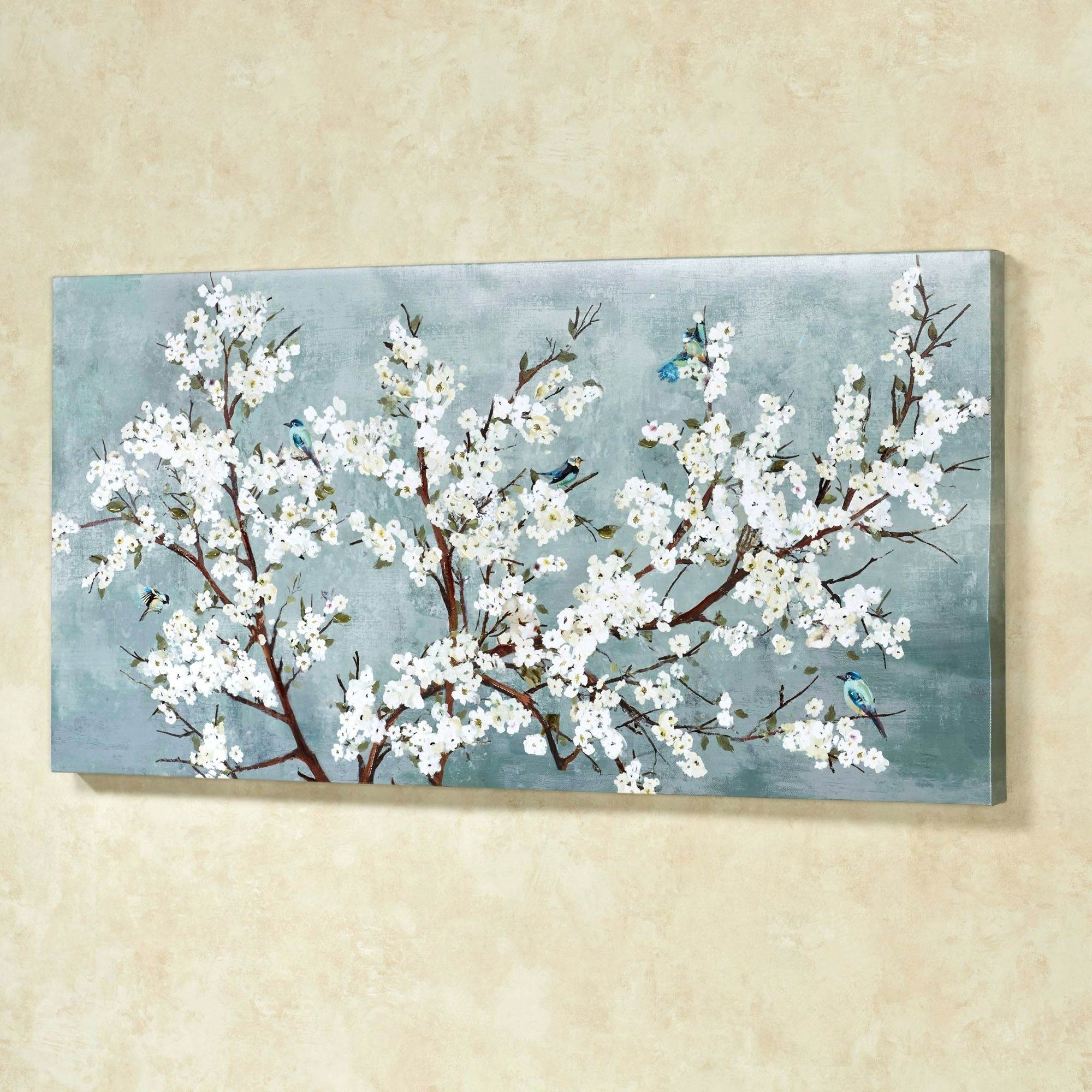 Wall Arts ~ Cherry Blossom Canvas Wall Art Uk Cherry Blossom Inside Best And Newest Abstract Cherry Blossom Wall Art (Gallery 19 of 20)