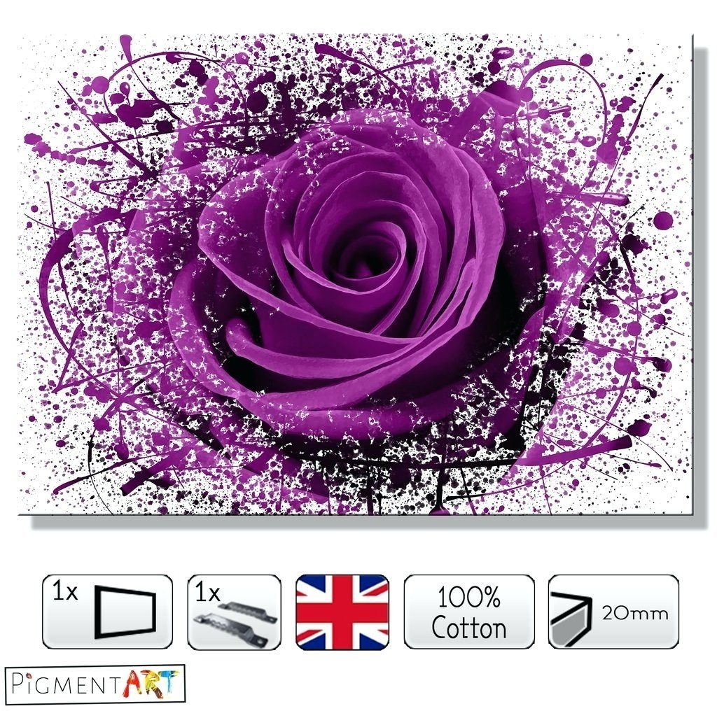 Wall Arts ~ Dark Purple Wall Art Details About Purple Canvas Pertaining To Most Up To Date Dark Purple Abstract Wall Art (View 20 of 20)