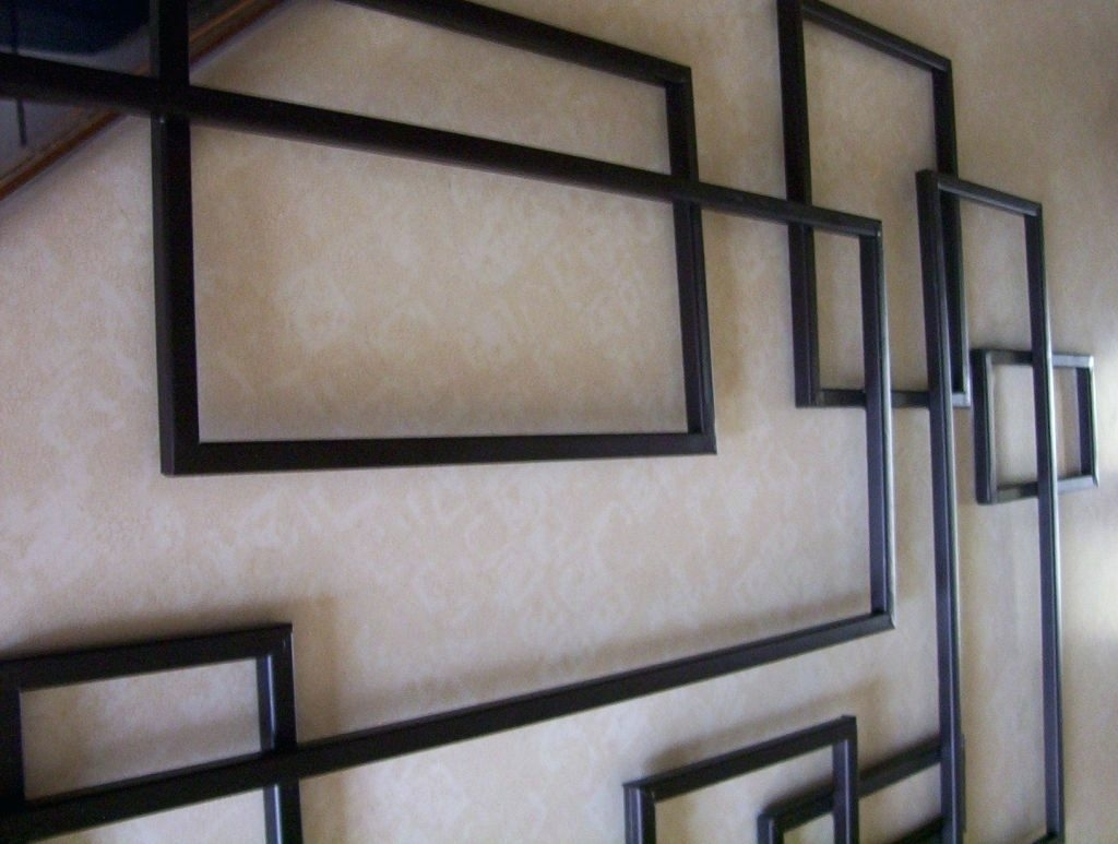 Wall Arts ~ Geometric Metal Wall Art Large Size Outstanding Diy With Most Up To Date Abstract Geometric Metal Wall Art (View 19 of 20)