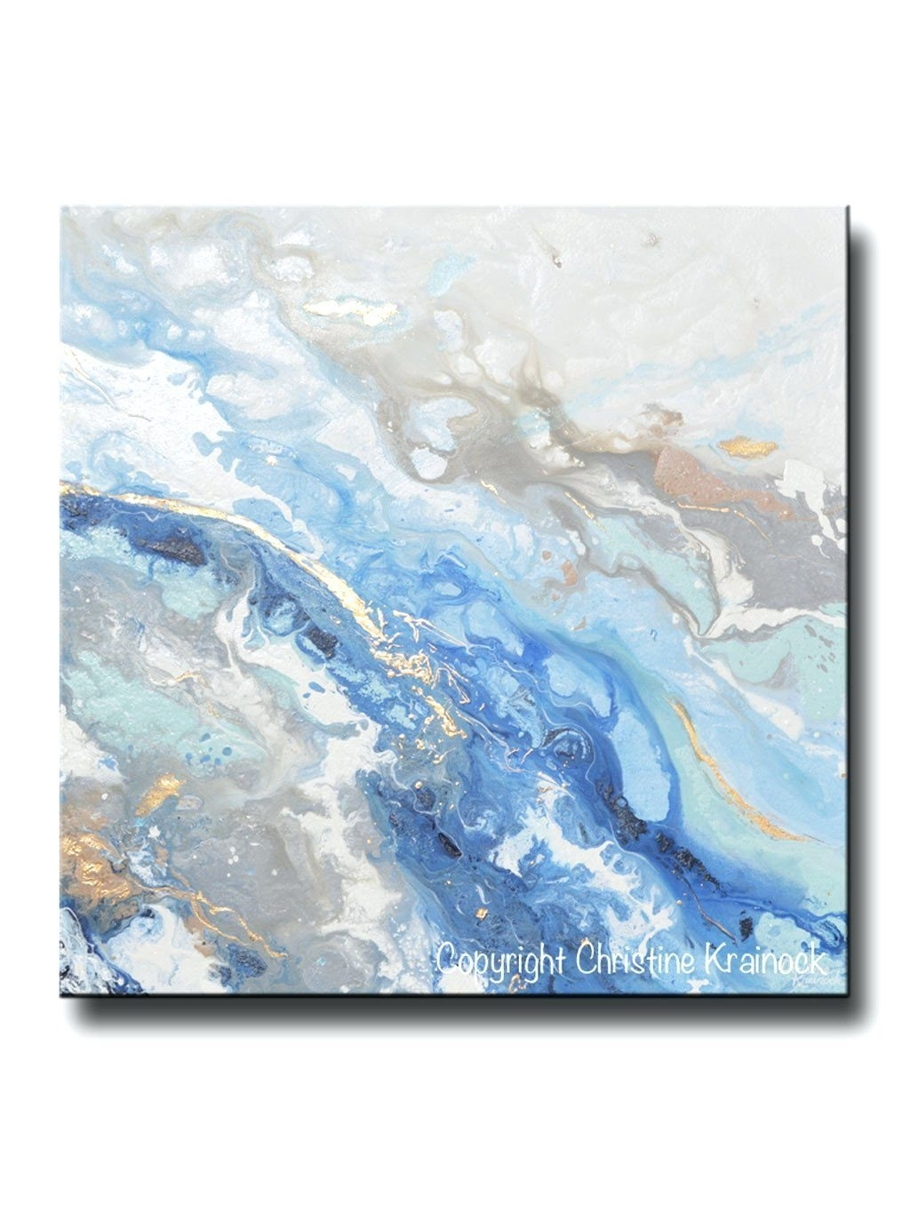 Wall Arts ~ Giclee Print Art Modern Blue White Abstract Painting With 2017 Dark Blue Abstract Wall Art (View 19 of 20)