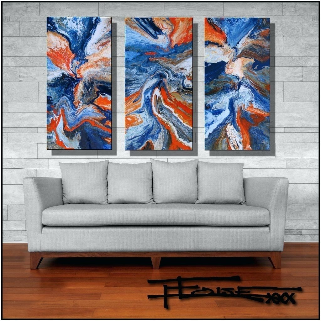Wall Arts ~ Huge Abstract Modern Canvas Wall Art 72 X 48 Inches Pertaining To Latest Large Abstract Wall Art Australia (View 9 of 20)
