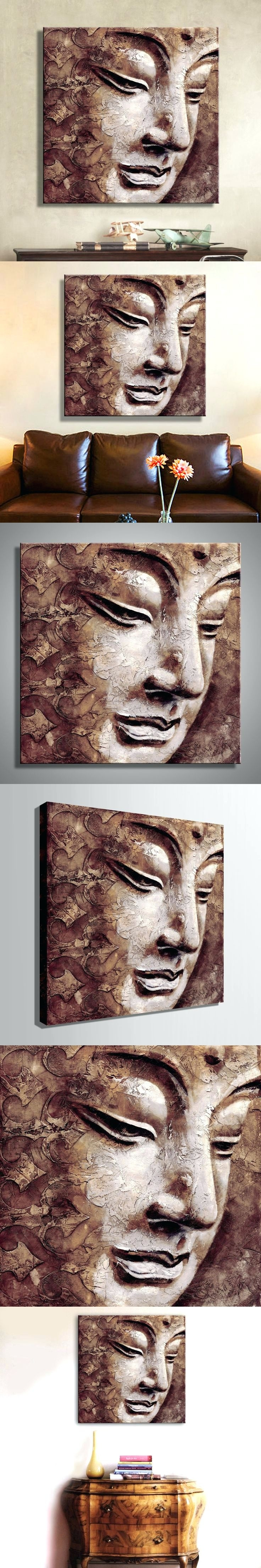 Wall Arts ~ Large Buddha Face Wall Art Large Buddha Wall Art Large Throughout Most Popular Abstract Buddha Wall Art (View 18 of 20)
