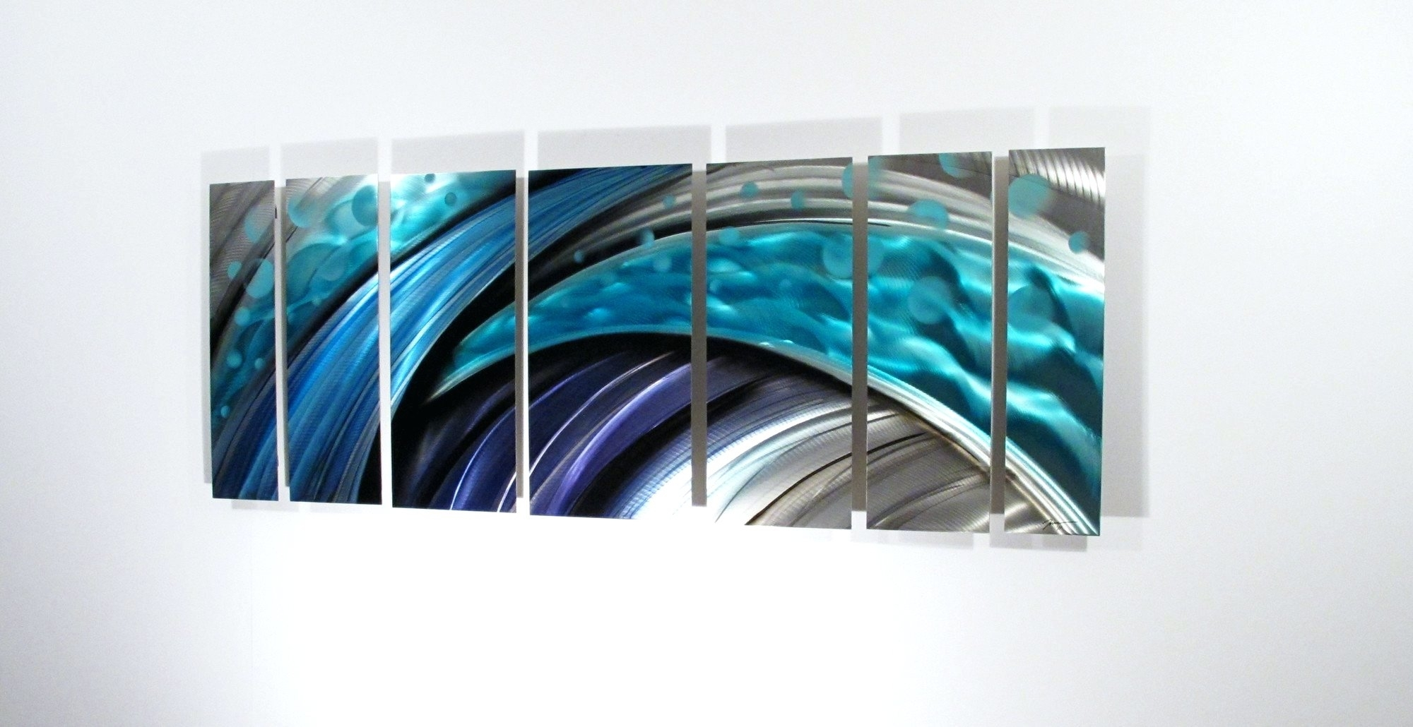 Wall Arts ~ Large Metal And Glass Wall Art Modern Abstract Metal In 2017 Abstract Fused Glass Wall Art (View 19 of 20)