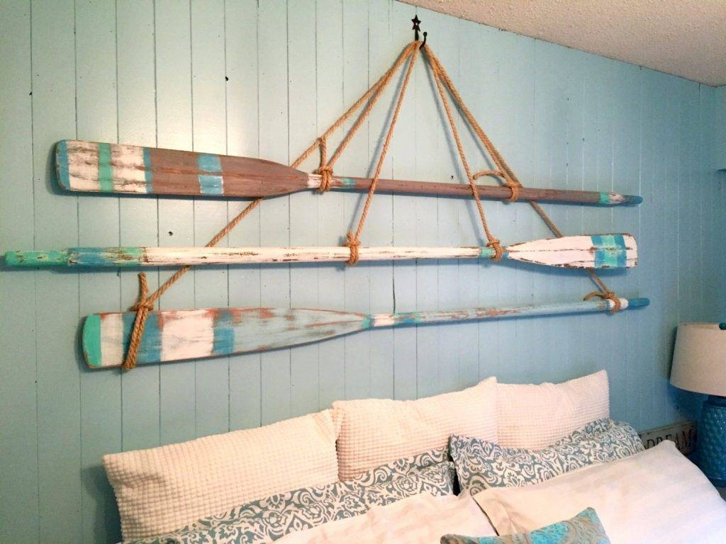 Wall Arts ~ Metal Wall Art Beach Decor Vintage Oar Paddle With Regard To Recent Coastal Wall Art Decor (View 12 of 20)