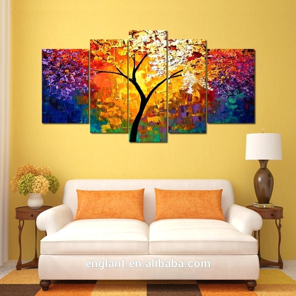 Wall Arts ~ Modern Abstract Huge Wall Art Oil Painting On Canvas Pertaining To Most Recent Modern Abstract Huge Wall Art (View 2 of 20)