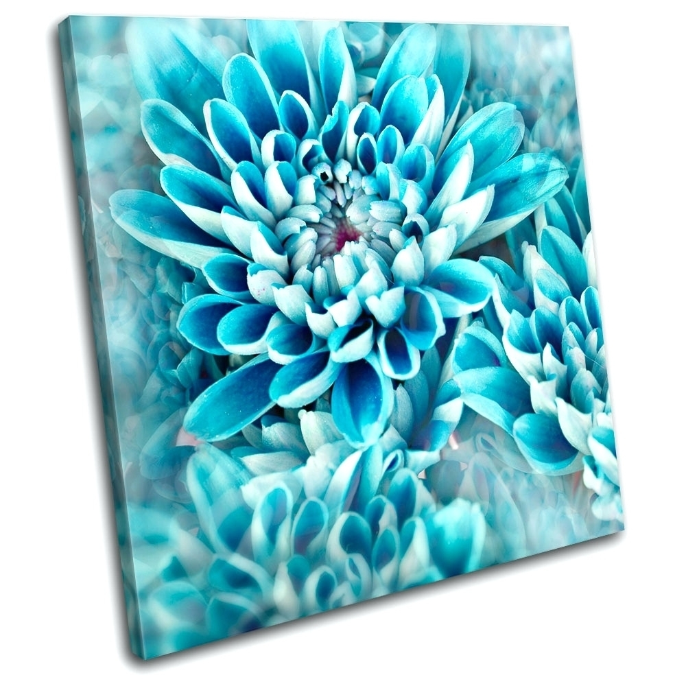Wall Arts ~ Original Art Abstract Blue White Floral Painting In 2017 Abstract Flower Metal Wall Art (View 18 of 20)
