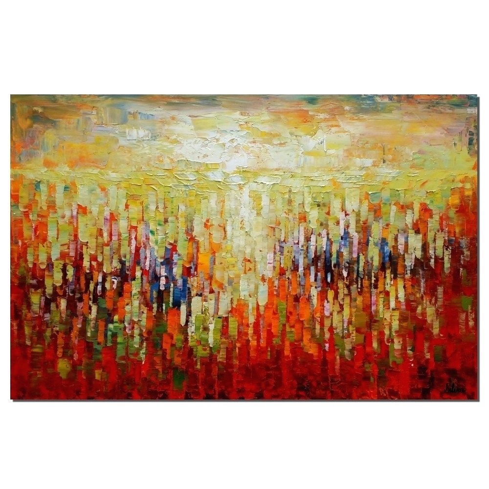 Wall Arts ~ Oversized Wall Art Canvas Abstract Canvas Art Oil Within Most Popular Abstract Oversized Canvas Wall Art (View 11 of 20)