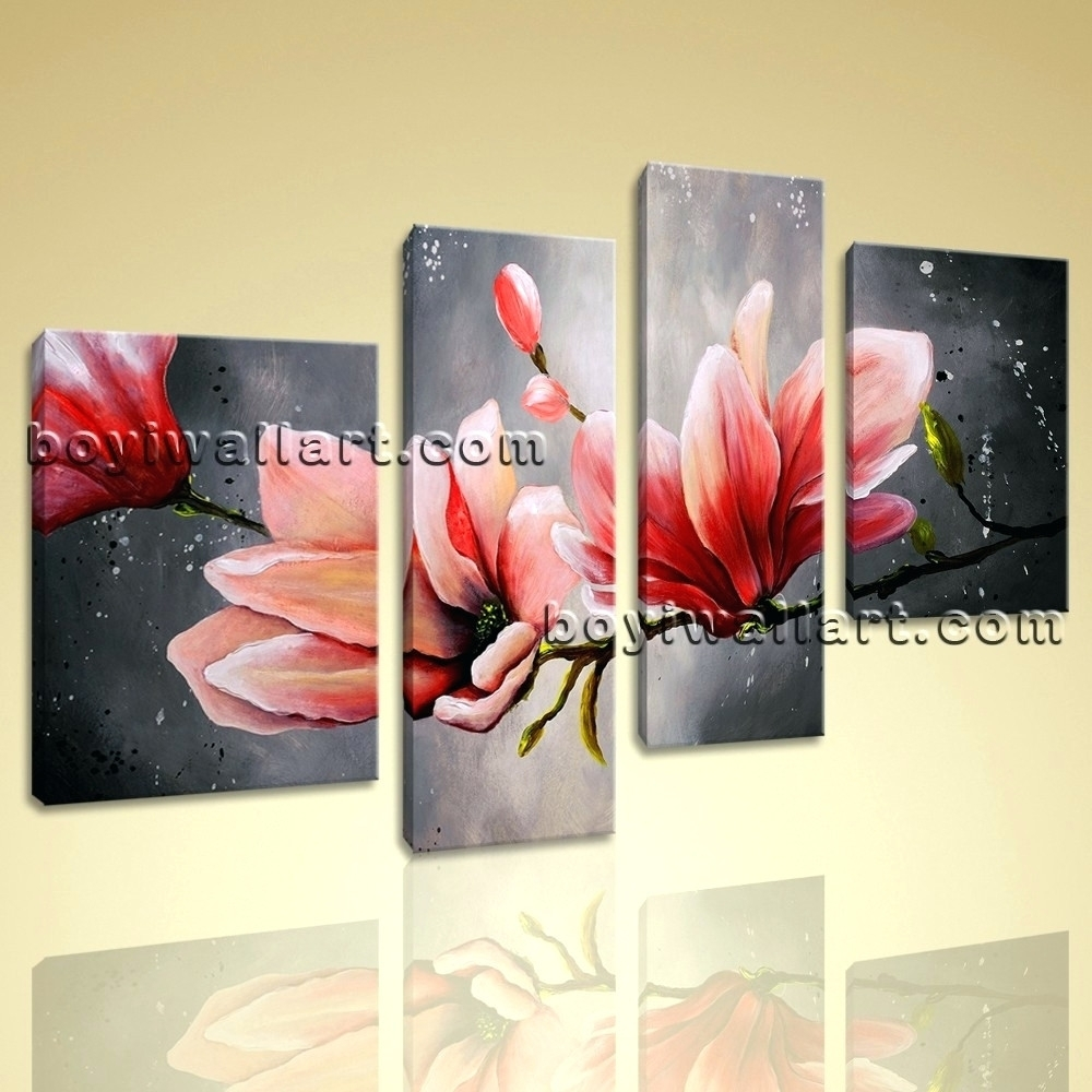 Wall Arts ~ Tulip Wall Art Metal Huge Canvas Wall Art Tulip Flower With Regard To Most Recently Released Abstract Flower Metal Wall Art (View 14 of 20)