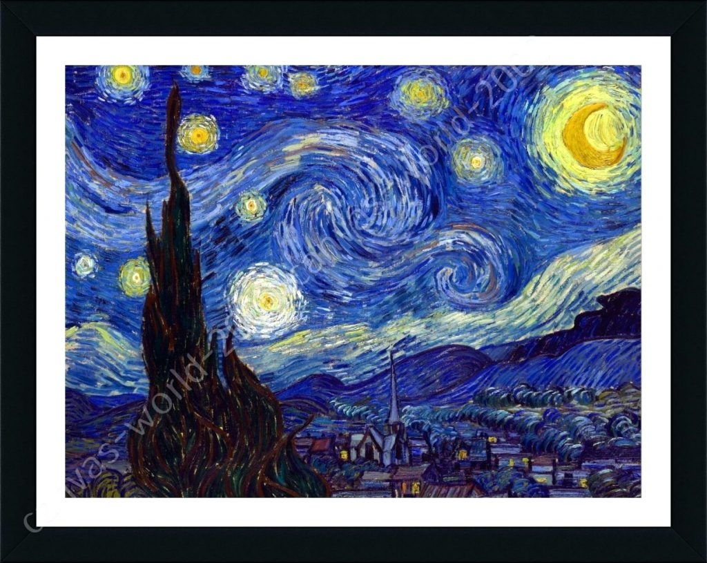 Wall Arts ~ Van Gogh Starry Night Wall Art Van Gogh Wall Art Van For Most Current Vincent Van Gogh Wall Art (View 3 of 20)