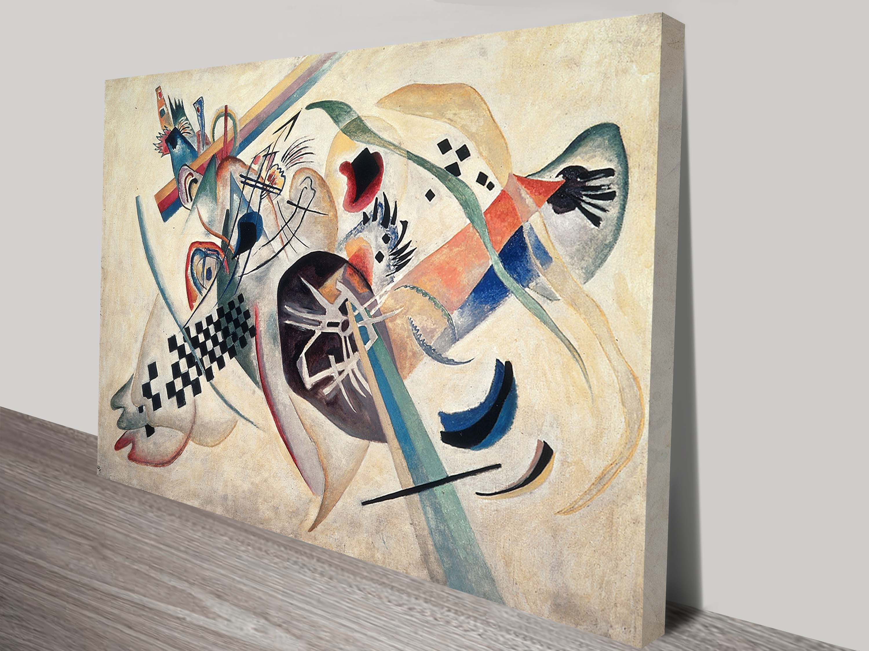 Wassily Kandinsky Wall Art Print On Canvas Throughout Most Recently Released Brisbane Abstract Wall Art (View 19 of 20)
