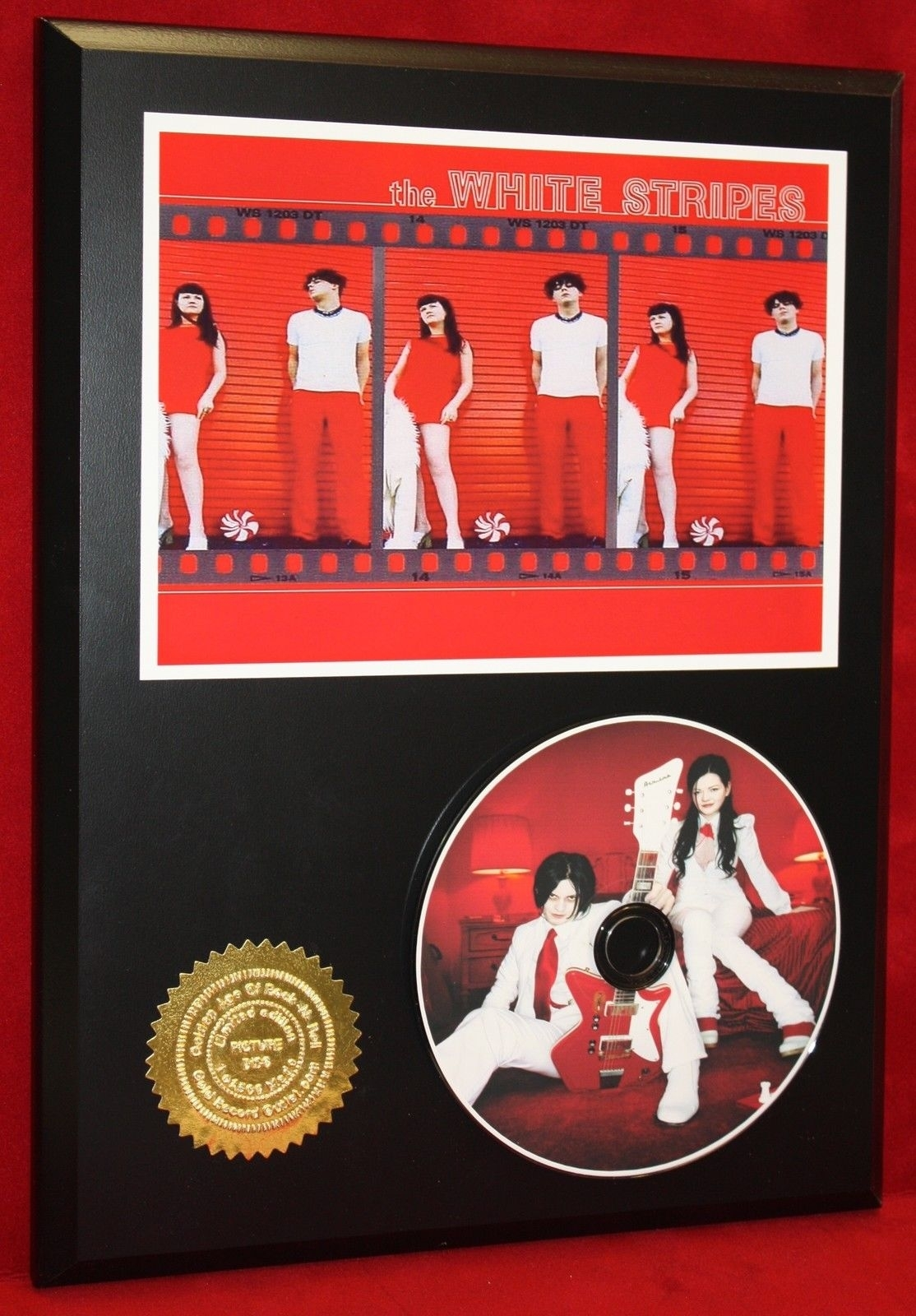 White Stripes Limited Edition Picture Cd Disc Collectible Rare Throughout Most Popular Limited Edition Wall Art (View 19 of 20)