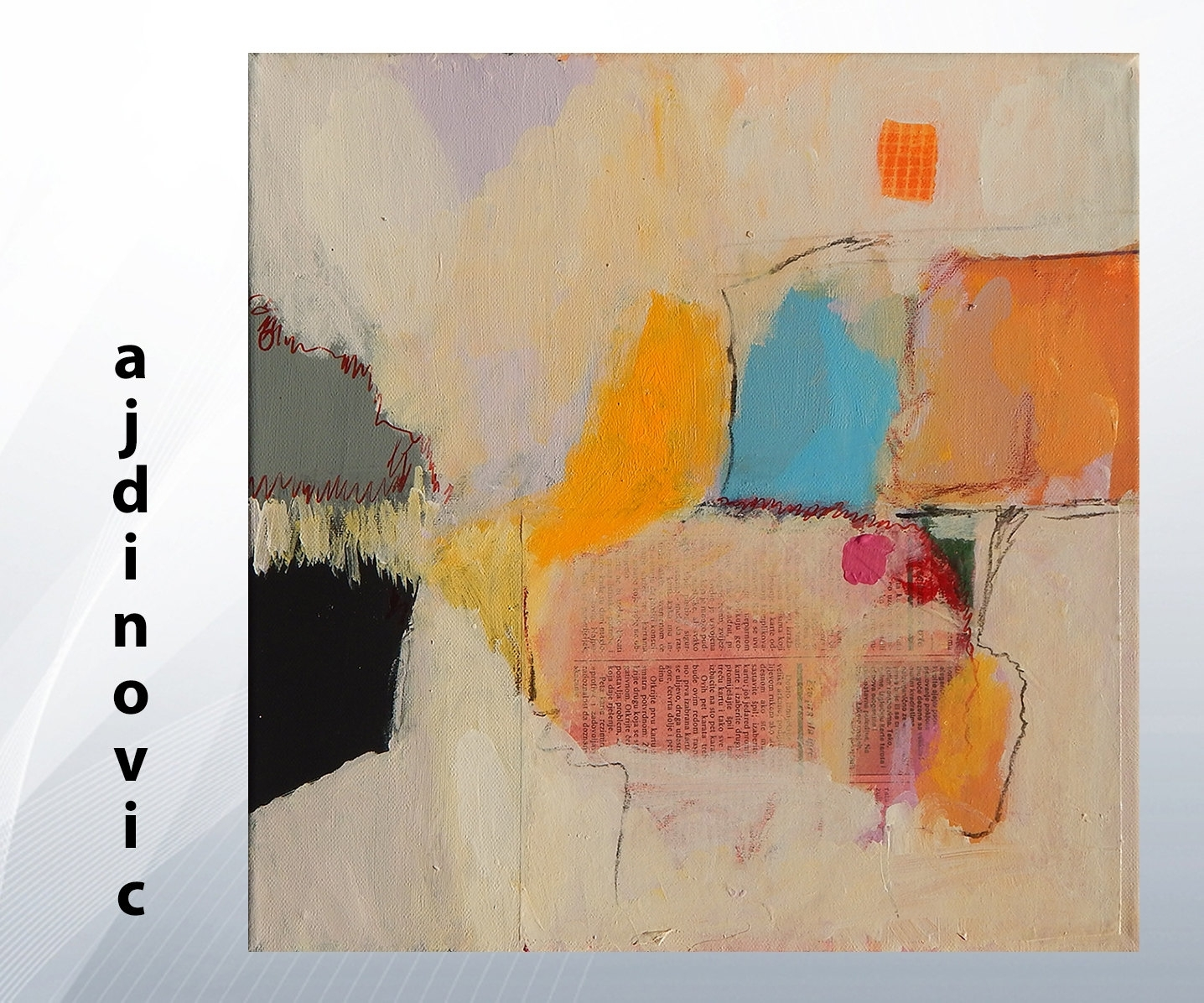 White Yellow Pink Painting Contemporary Artwork Abstract Canvas Pertaining To Current Acrylic Abstract Wall Art (View 18 of 20)