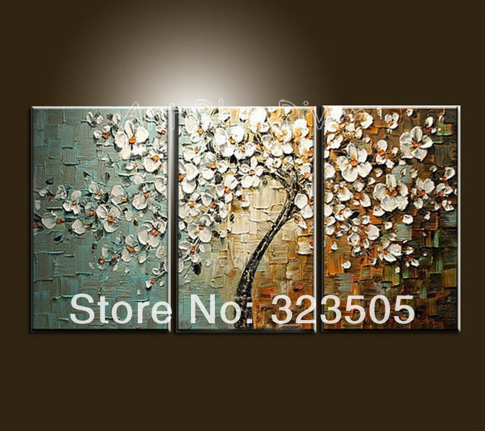 Wholesale Canvas Wall Art Modern Abstract Wall Panel Textured Pertaining To Most Current Abstract Cherry Blossom Wall Art (View 16 of 20)