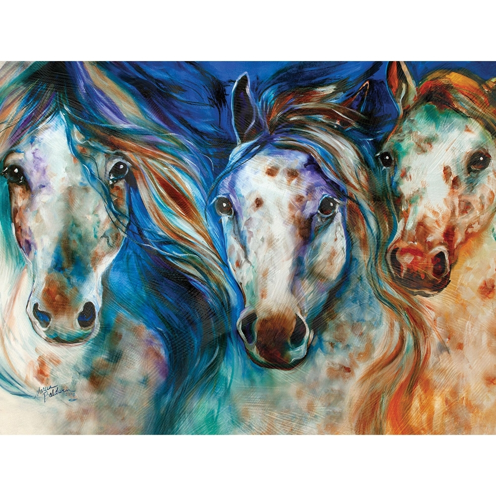 Wild Appaloosa Horses Canvas Wall Art | Horse Paintings For Most Popular Abstract Horse Wall Art (View 20 of 20)