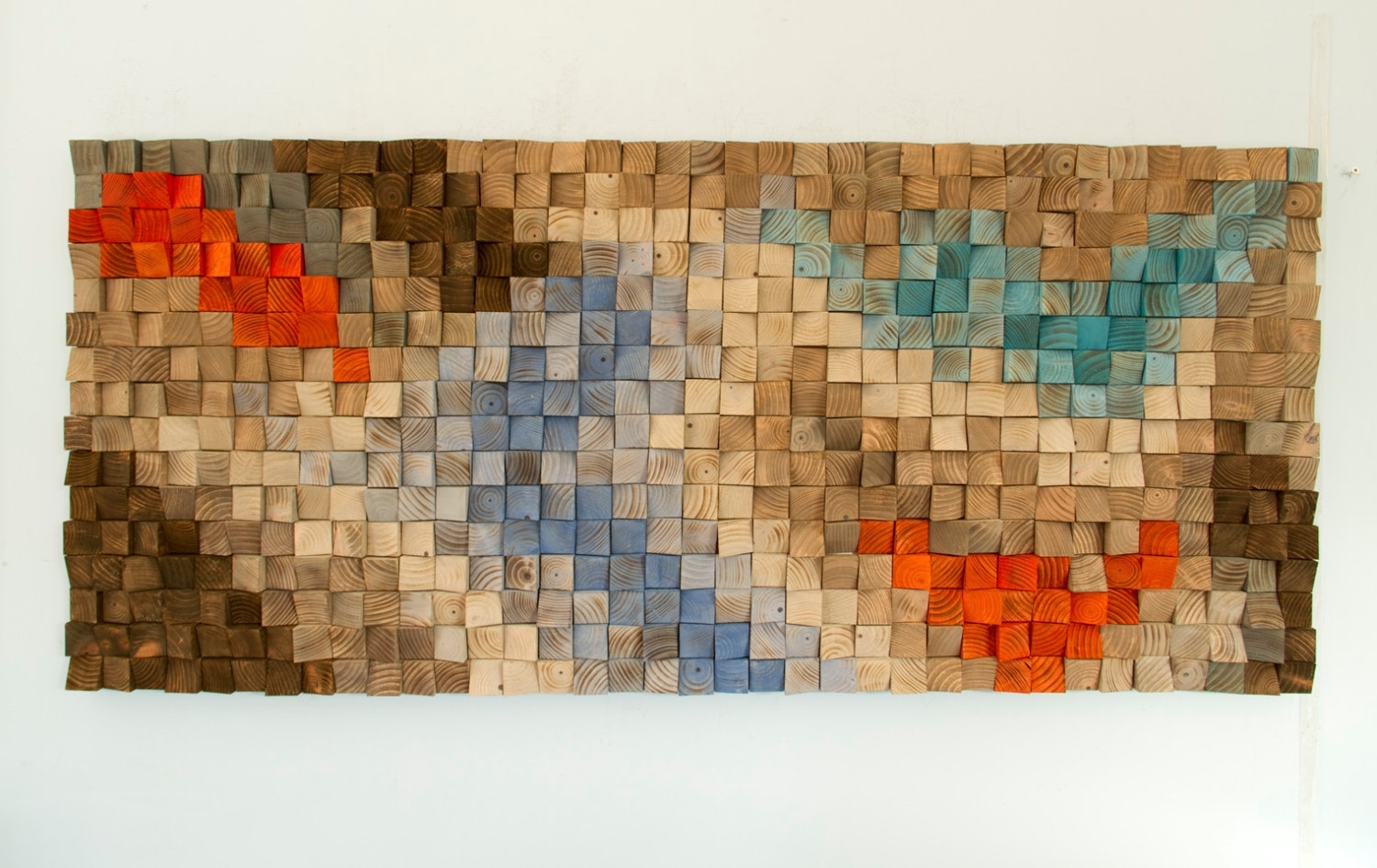 Wood Wall Rustic Art, Sale Wood Wall Sculpture, Abstract Painting For Current Sculpture Abstract Wall Art (View 6 of 20)