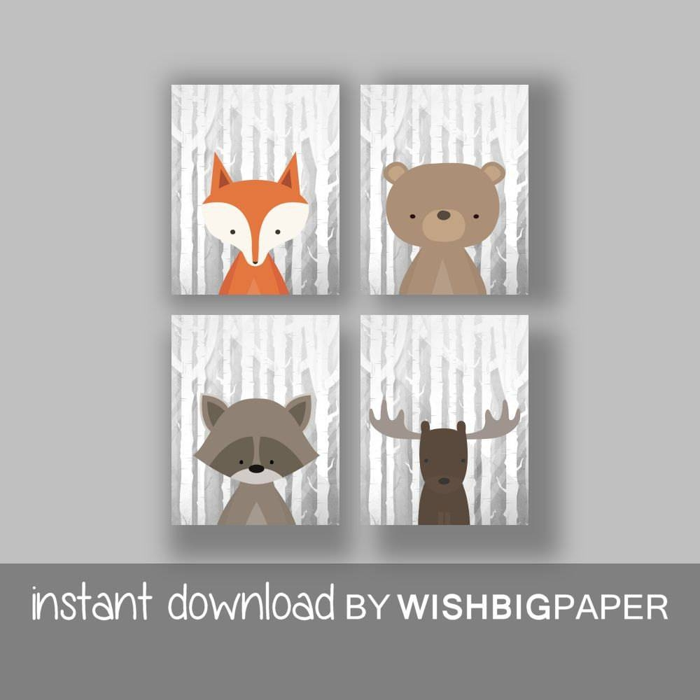 Featured Photo of Woodland Animal Wall Art