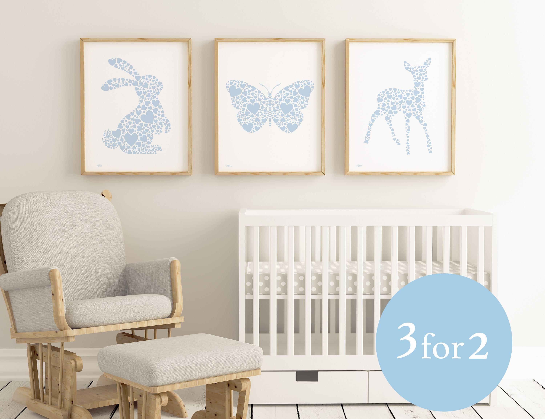Woodland Nursery Print Set | Fortune & Hopkins | Nursery Art For Most Recently Released NurseryAnimal Wall Art (View 19 of 20)