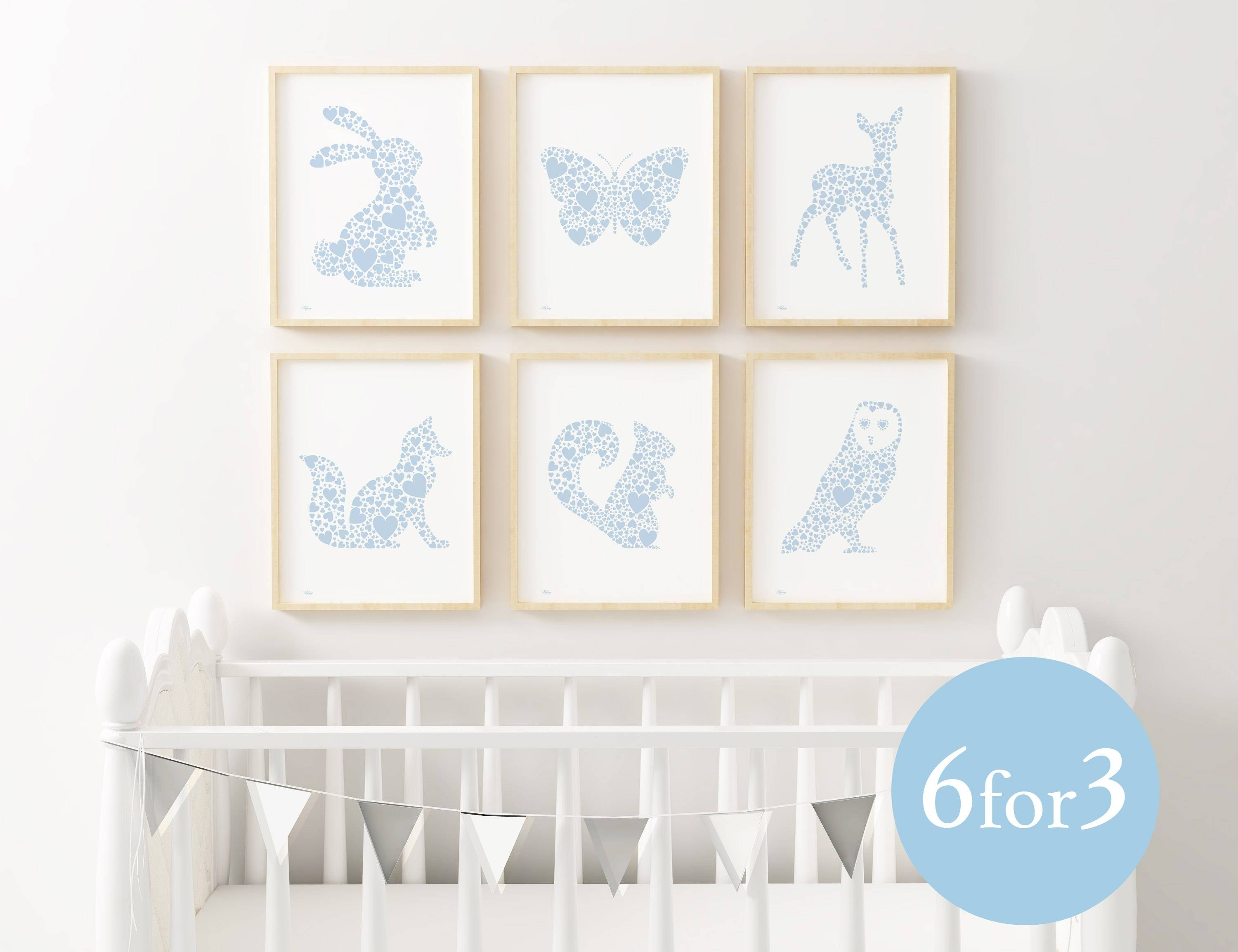 Woodland Nursery Print Set | Fortune & Hopkins | Nursery Art With Most Recent Baby Animal Wall Art (View 2 of 20)