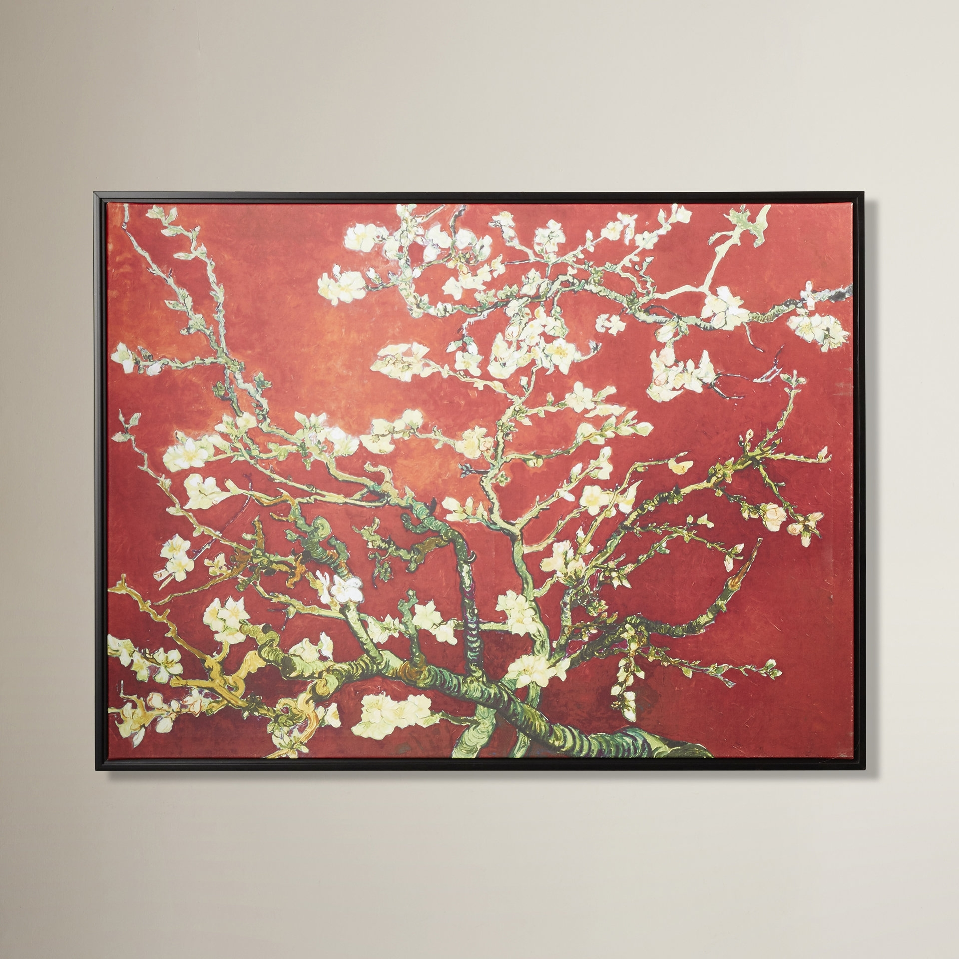 World Menagerie 'interpretation In Red Almond Blossom'vincent With Regard To Most Up To Date Almond Blossoms Vincent Van Gogh Wall Art (View 2 of 20)