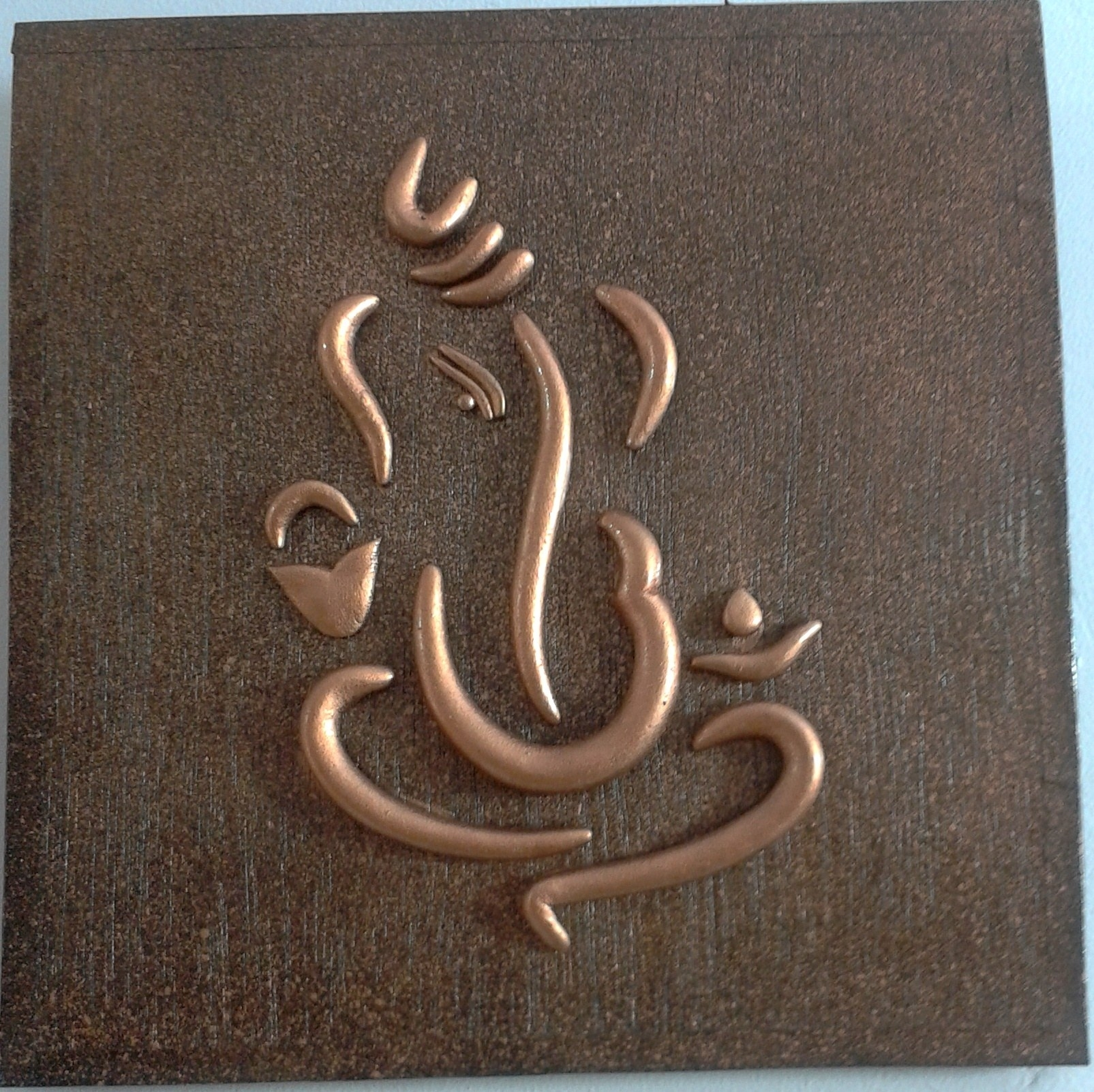 World O Ceramica – Copper Ganesha Wall Hanging Home Decor World O Intended For Most Up To Date Abstract Ganesha Wall Art (View 19 of 20)