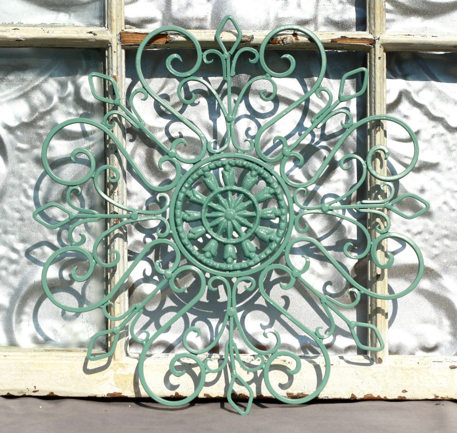 Wrought Iron Wall Decor/ Metal Wall Hanging/ Indoor/ Outdoor Metal Pertaining To Most Recent Abstract Outdoor Metal Wall Art (View 14 of 14)