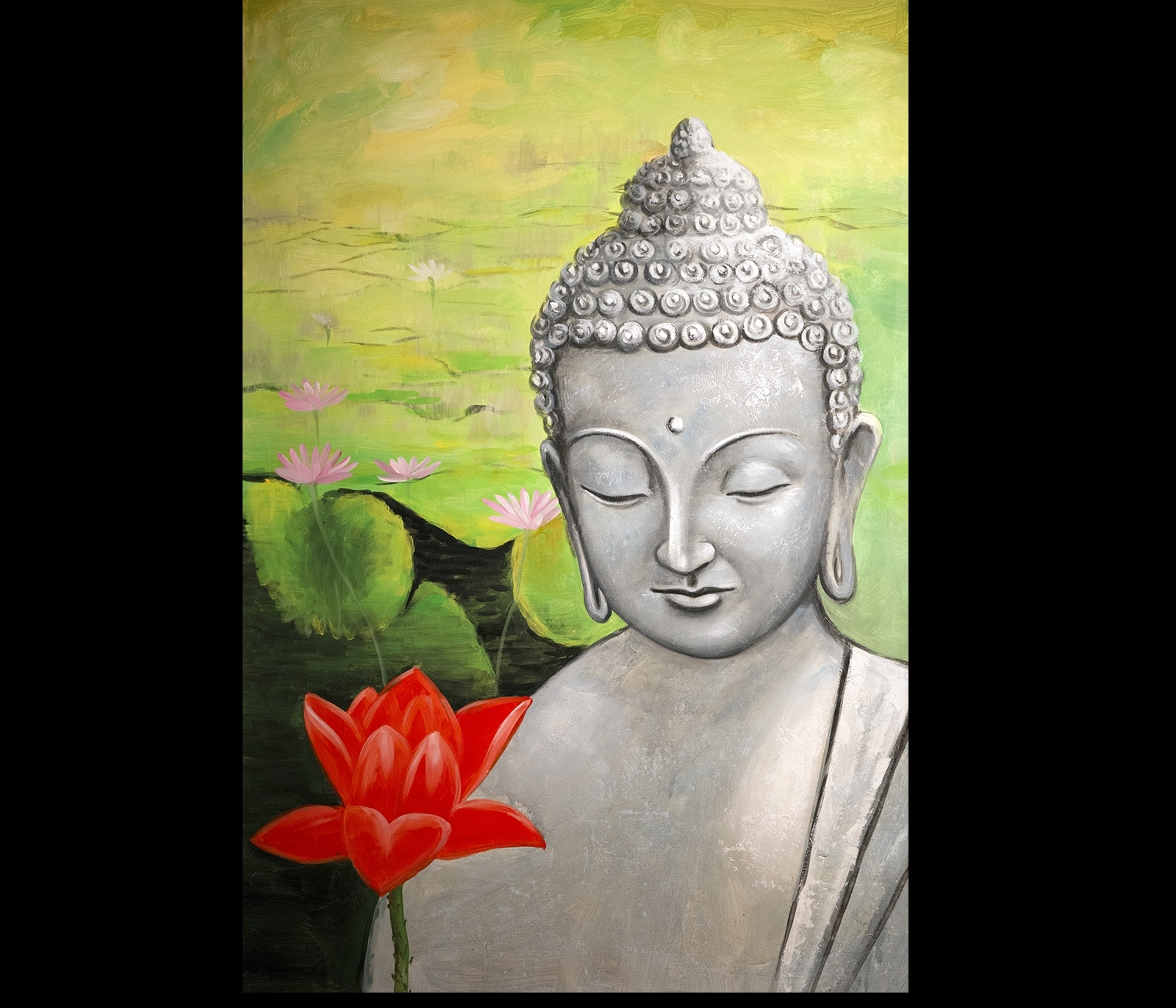 Zen Buddha Art Modern Wall Decor Buddha Painting Abstract Canvas Regarding Current Abstract Buddha Wall Art (View 19 of 20)
