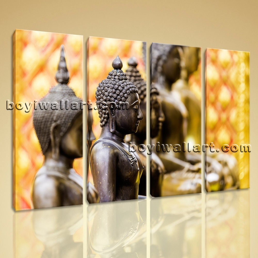 Zen Modern Contemporary Abstract Art Painting Canvas Wall Art Hd Print Pertaining To Most Current Abstract Buddha Wall Art (View 20 of 20)
