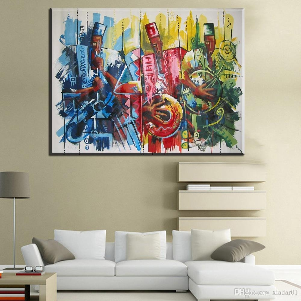 Zz644 Modern Decorative Canvas Art African Music Paintings Canvas Within 2017 Abstract African Wall Art (View 18 of 20)