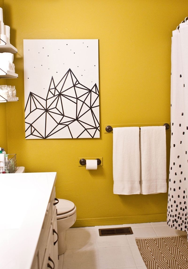10 Diy Wall Decorations With Washi Tape | Diy Wall Decorations Intended For Recent Diy Wall Accents (View 1 of 15)