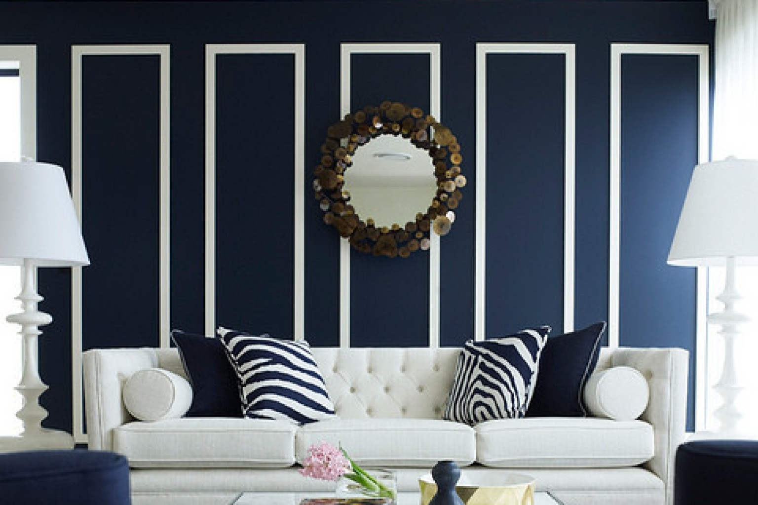 10 Navy Rooms To Inspire You To Pick Up The Paintbrush (Photos Inside Most Current Navy Wall Accents (Gallery 10 of 15)
