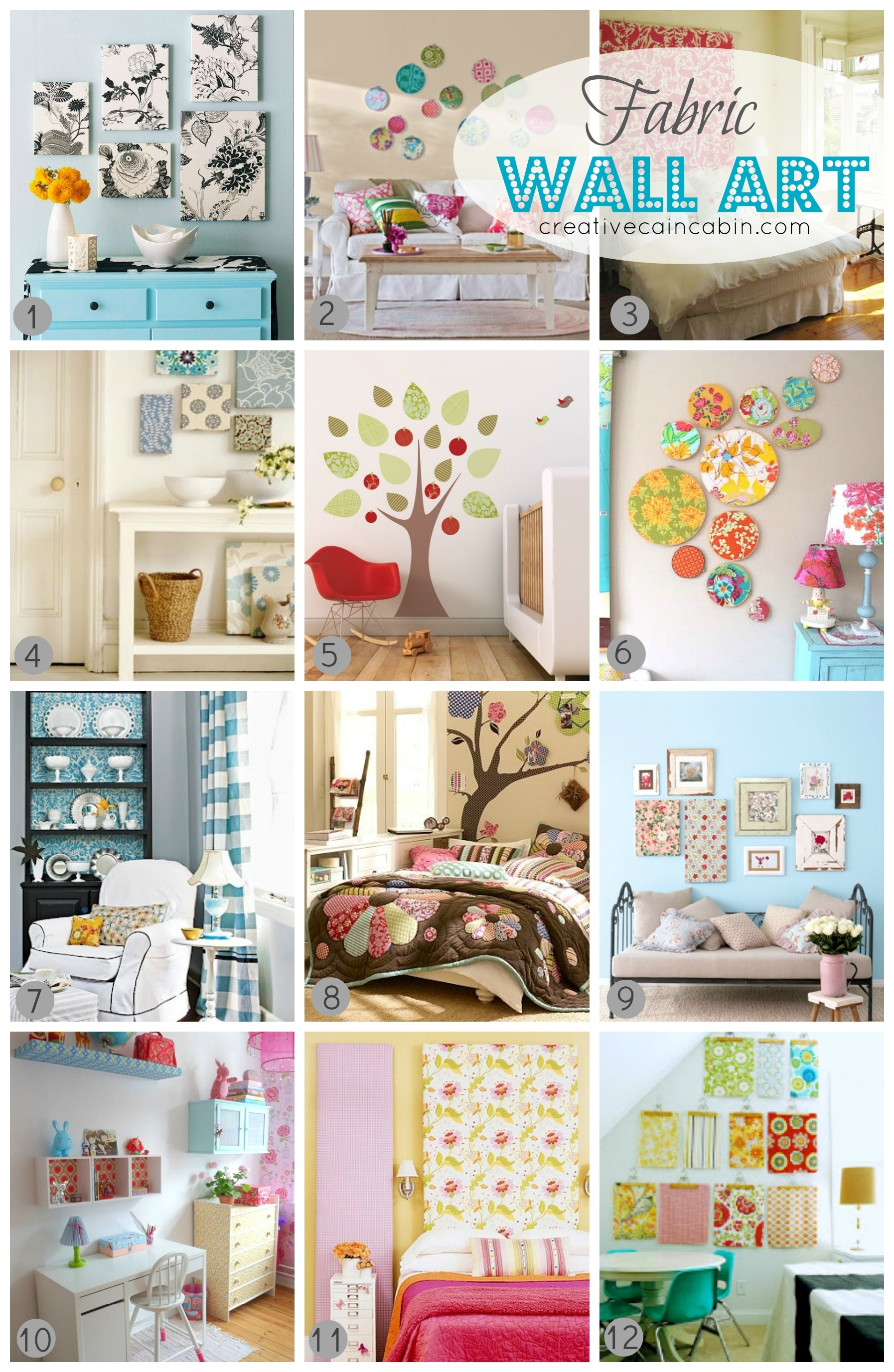 12 Ways To Use Fabric As Art – Creative Cain Cabin For Best And Newest Childrens Fabric Wall Art (View 1 of 15)