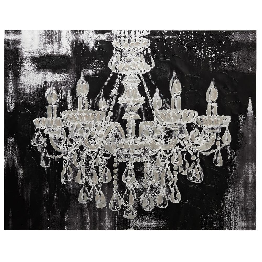 $129 Canvas U2013 Chandelier/canvas Art/wall Decor|Bouclair Regarding Most  Current Chandelier