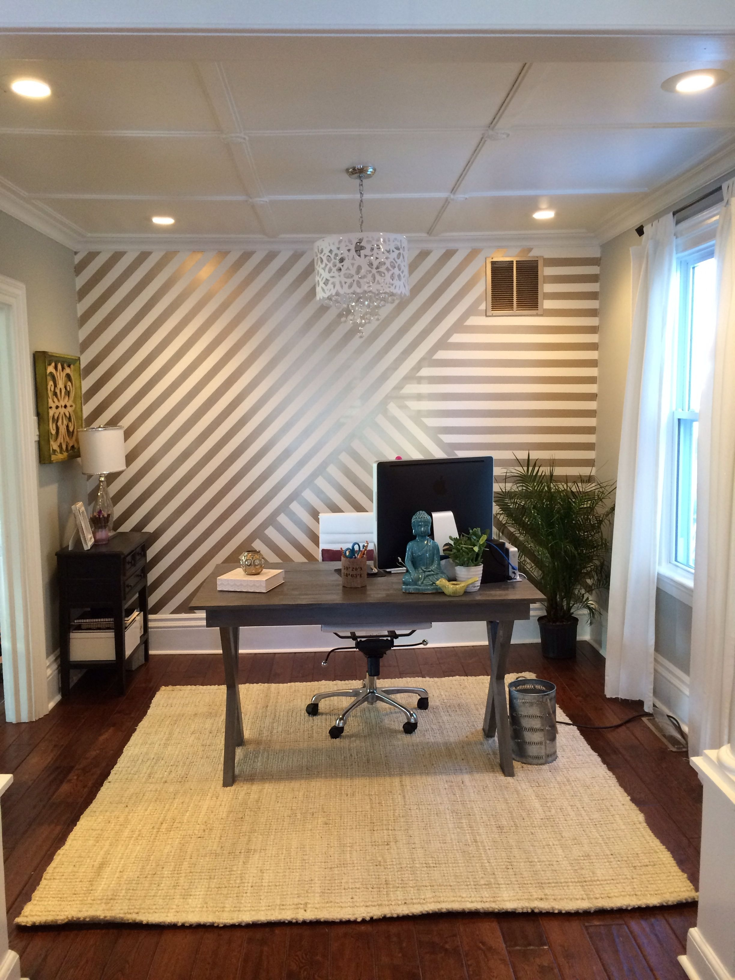 13+ Most Popular Accent Wall Ideas For Your Living Room | Gold In Newest Vertical Stripes Wall Accents (View 1 of 15)