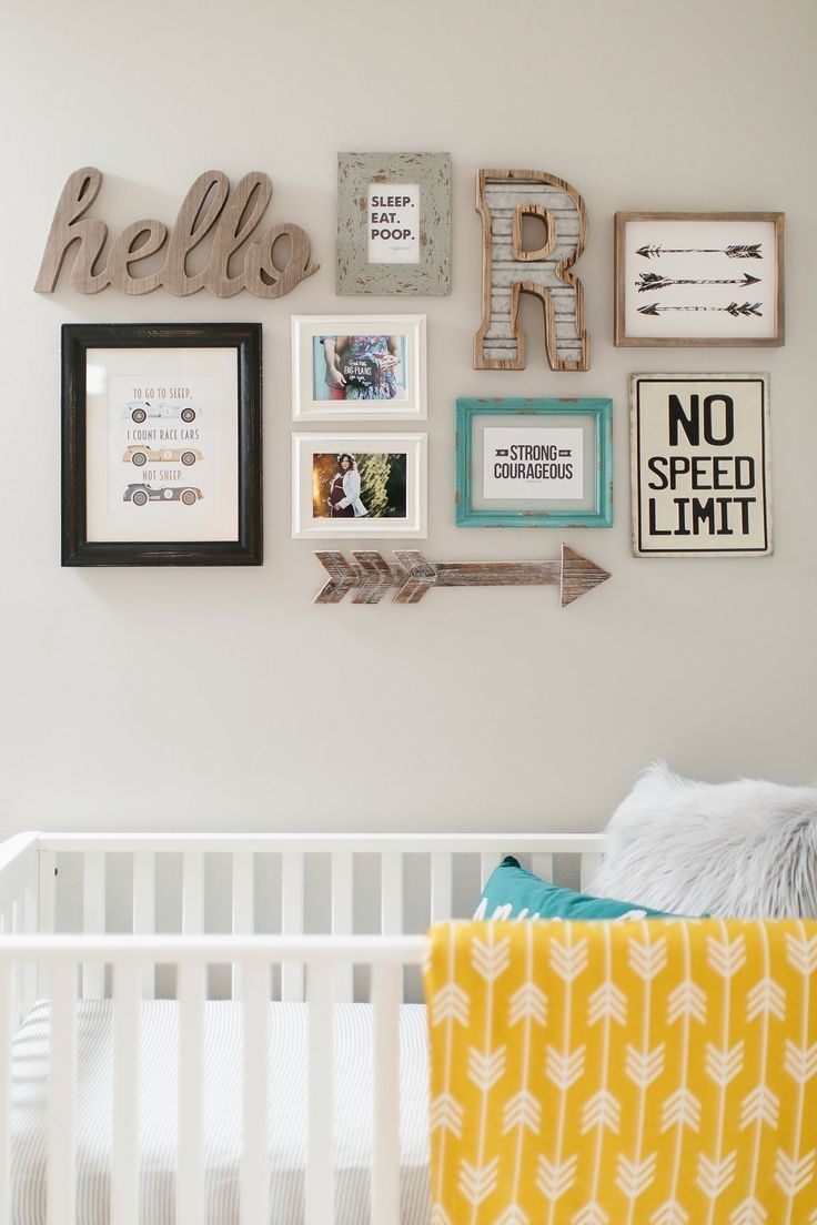 149 Best Diy Gallery Wall Ideas Images On Pinterest | Child Room Within Current Frames Wall Accents (View 12 of 15)