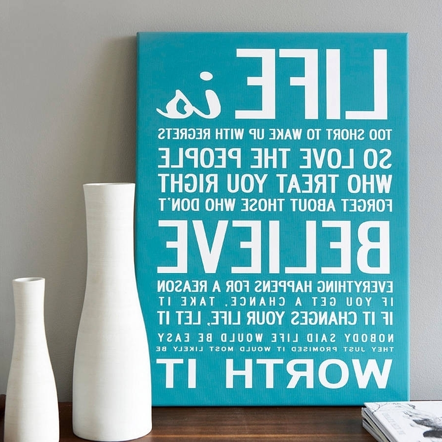 15 Best Ideas Of Inspirational Quotes Canvas Wall Art With Regard To Most Current Canvas Wall Art Quotes (View 10 of 15)