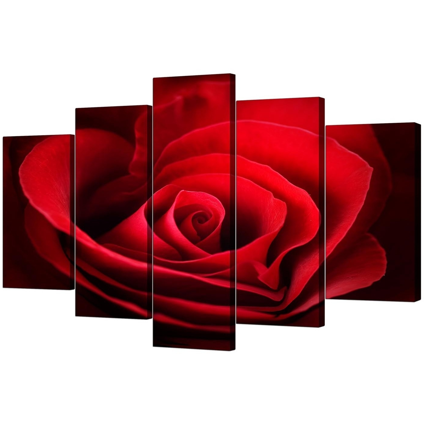 15 The Best Red Rose Wall Art For 2017 Large Red Canvas Wall Art (View 1 of 15)