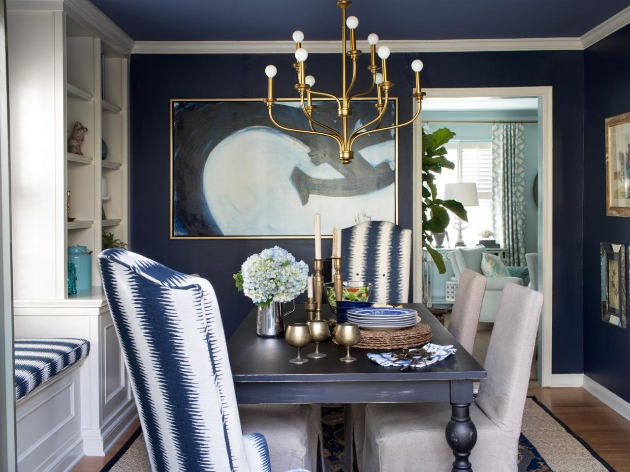 15 Ways To Dress Up Your Dining Room Walls | Hgtv's Decorating Pertaining To Best And Newest Wall Accents For Blue Room (View 2 of 15)