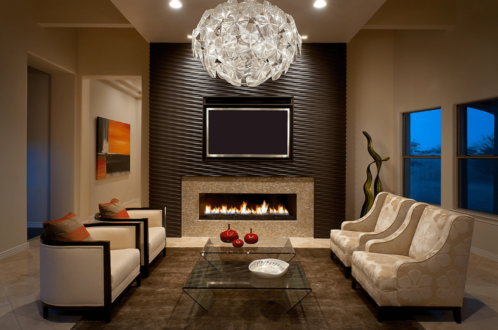16 Living Rooms With Accent Walls Intended For Most Up To Date Wallpaper Living Room Wall Accents (View 3 of 15)