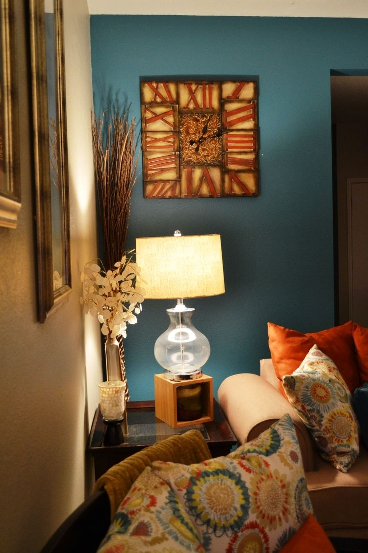 19 Awesome Accent Wall Ideas To Transform Your Living Room | Teal Throughout Recent Earth Tones Wall Accents (View 2 of 15)