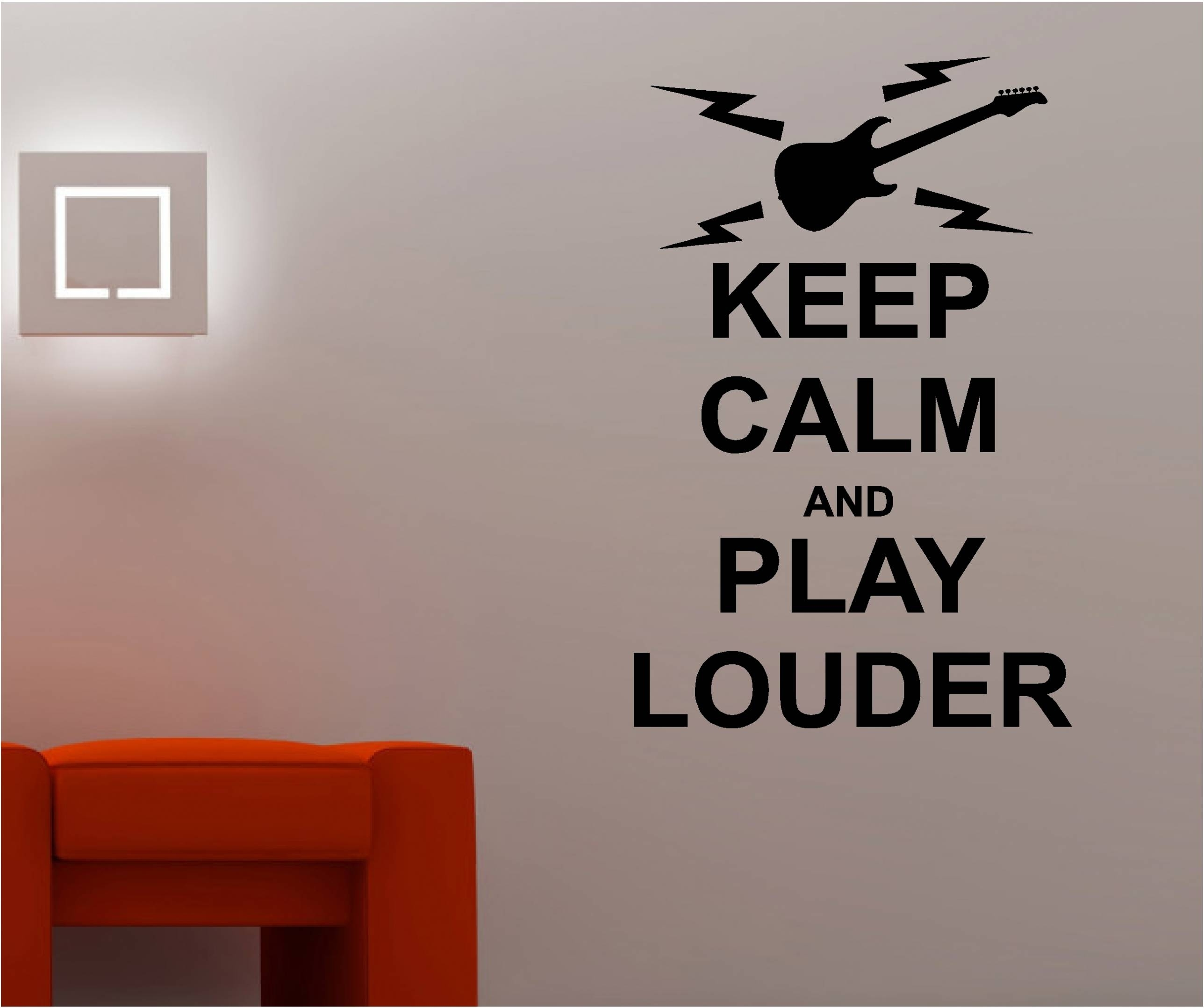 19 Ideas Of Music Wall Art Inside Most Current Keep Calm Canvas Wall Art (View 1 of 15)
