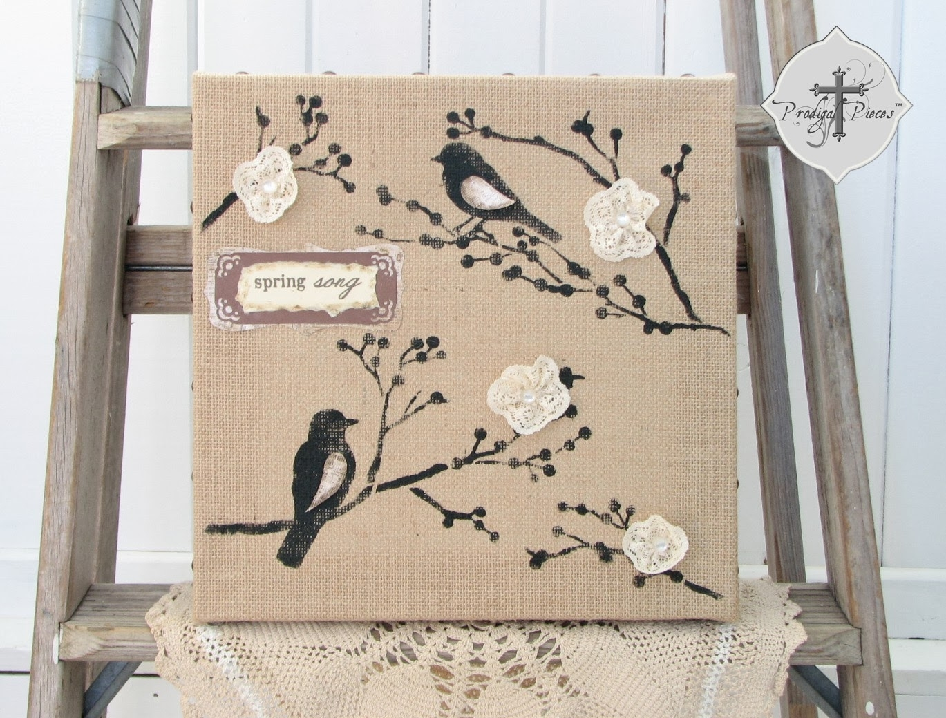 19 Inspirational Burlap Canvas Ideas | The Turquoise Home Within Best And Newest Burlap Fabric Wall Art (Gallery 8 of 15)
