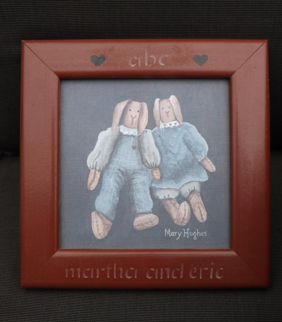 2 Mary Hughes Vintage Dolls Framed Folk Art Prints 10X10 With Regard To 2017 Framed Folk Art Prints (View 1 of 15)