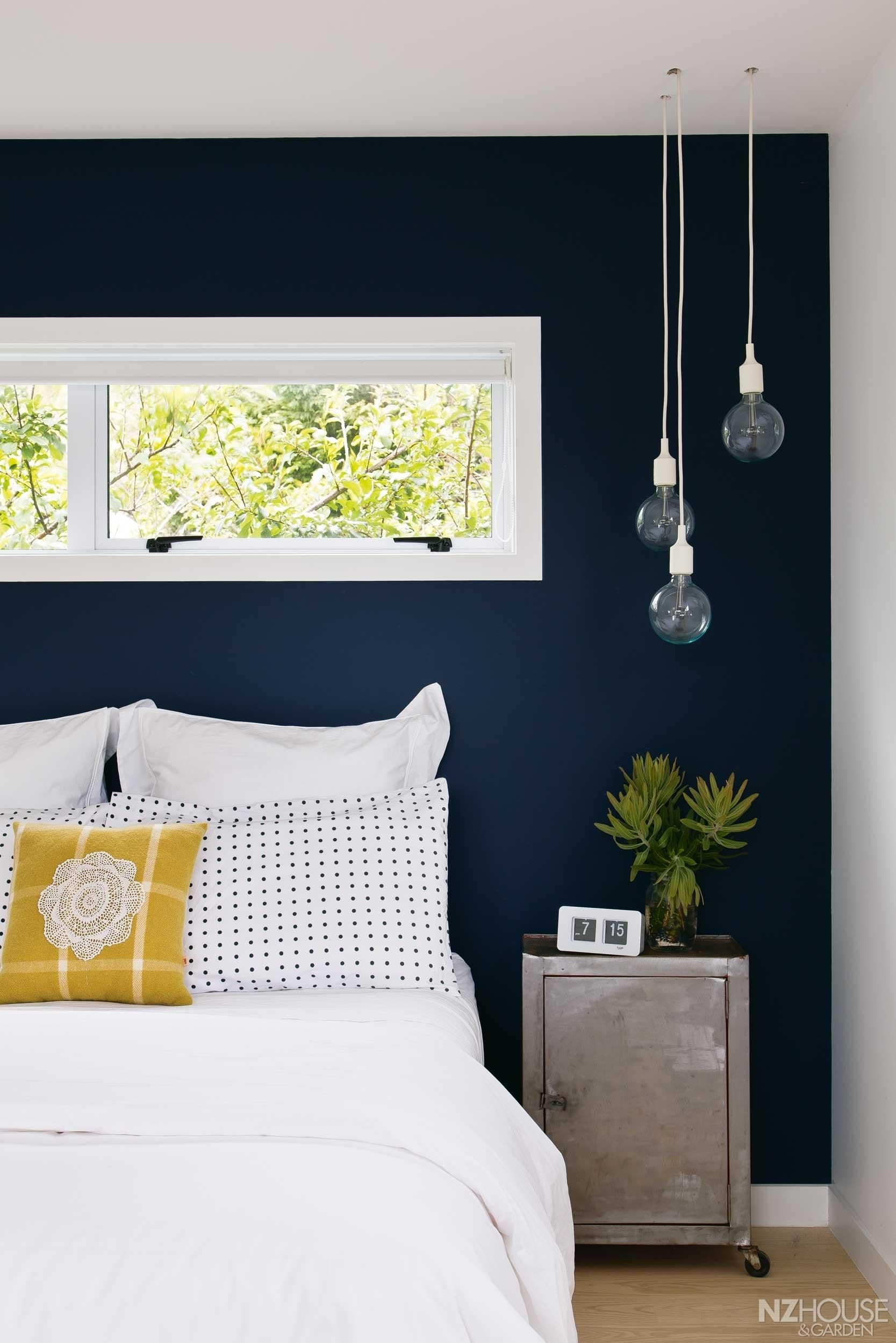 20+ Accent Wall Ideas You'll Surely Wish To Try This At Home Intended For Current Navy Wall Accents (View 2 of 15)