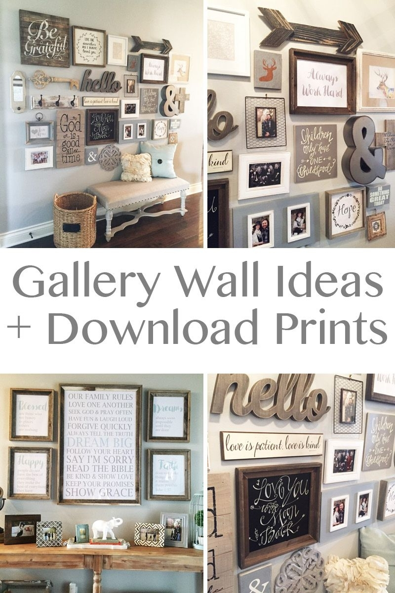 20 Amazing Diy Home Decor Ideas | Wall Ideas, Gallery Wall And Walls Throughout Most Recently Released Entryway Wall Accents (View 6 of 15)