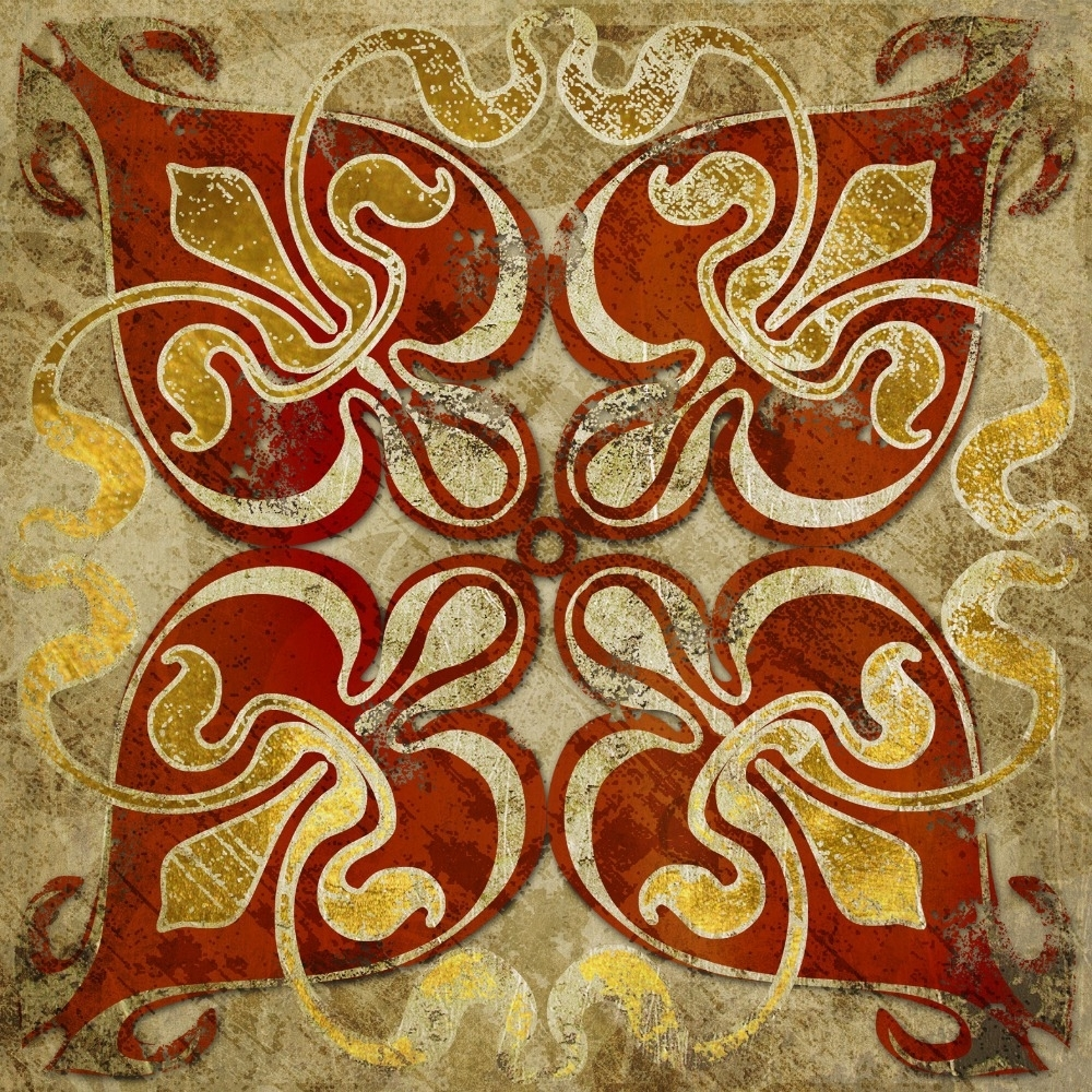 2015 India Gold Retro Ethnic Patterns Canvas Wall Art Home Within 2018 Ethnic Canvas Wall Art (Gallery 1 of 15)