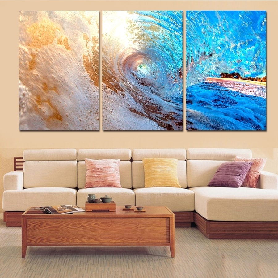 2018 Best Of Abstract Ocean Wall Art Within 2017 Ocean Canvas Wall Art (Gallery 9 of 15)