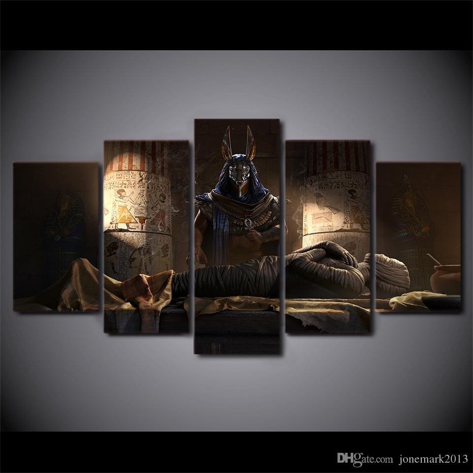 2018 Egypt Mummy Movie Home Decor Wall Art Canvas Pictures For For Most Current Egyptian Canvas Wall Art (View 2 of 15)