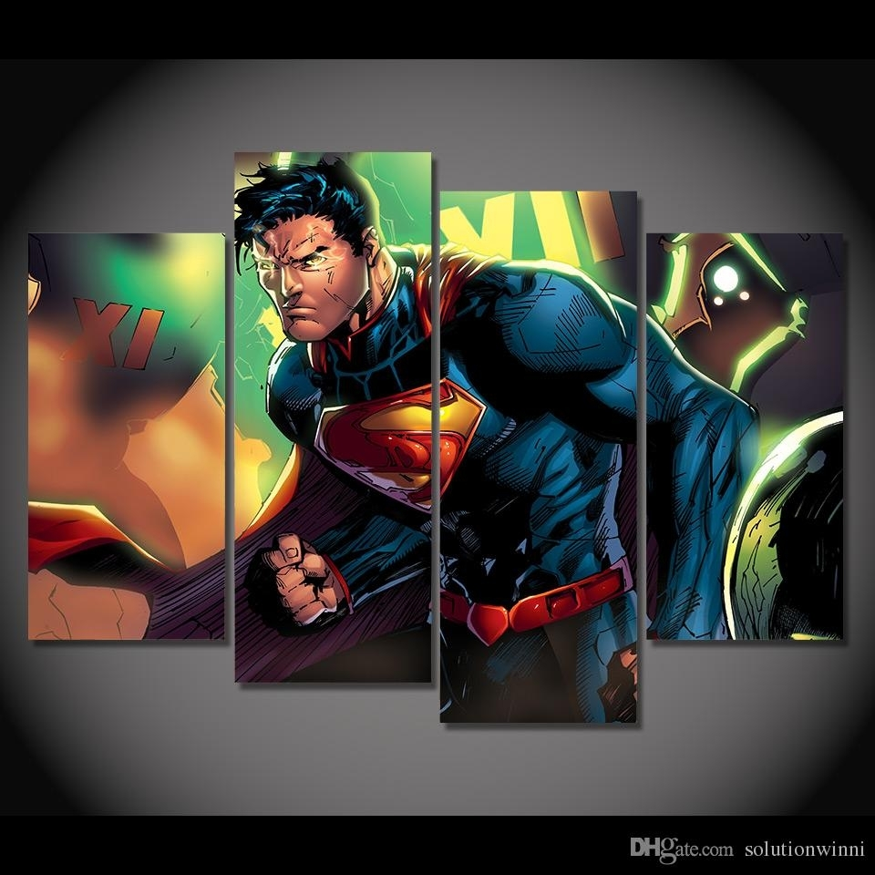 2018 Framed Hd Printed Superman Clark Kent Picture Wall Art Canvas With Regard To 2018 Kent Canvas Wall Art (View 4 of 15)