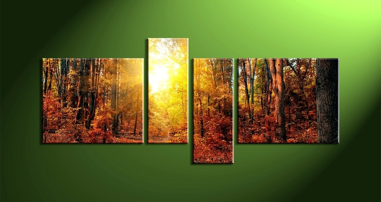 2018 Latest Abstract Nature Canvas Wall Art Intended For Most Up To Date Nature Canvas Wall Art (View 4 of 15)