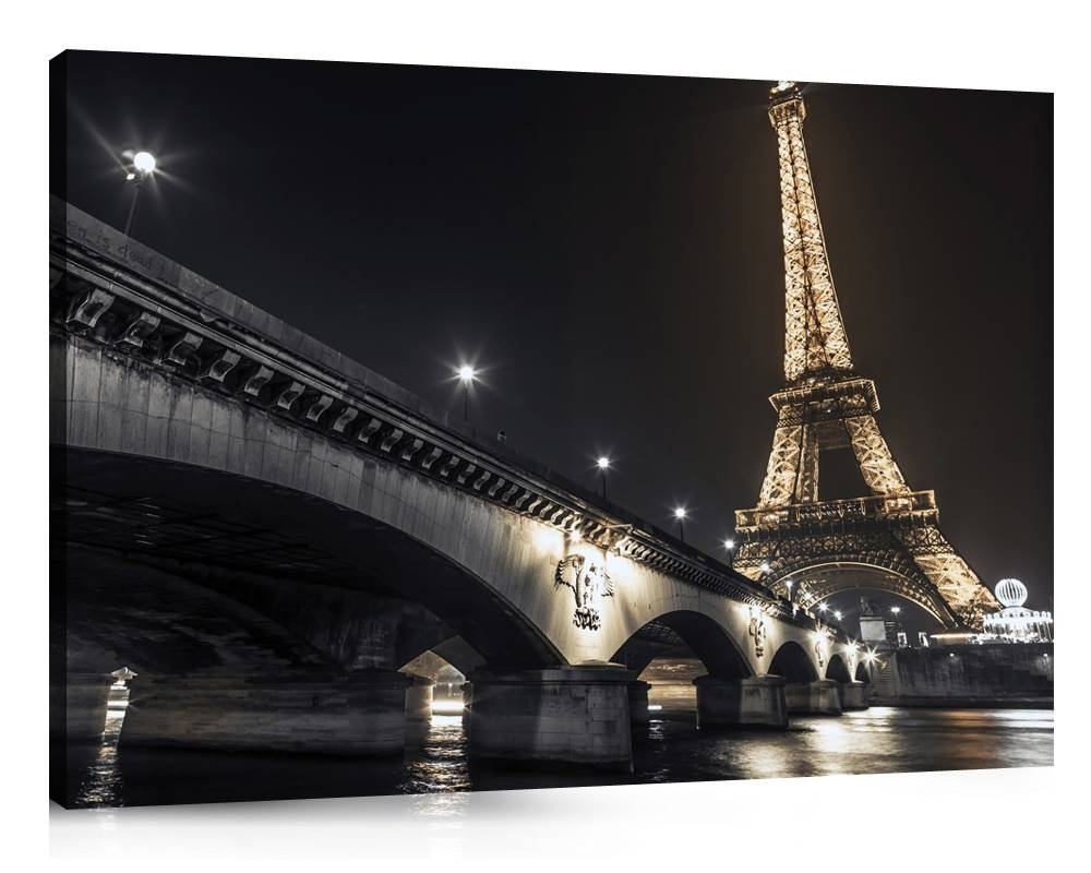 2018 Latest Black And White Paris Wall Art With Regard To Most Popular Canvas Wall Art Of Paris (View 8 of 15)